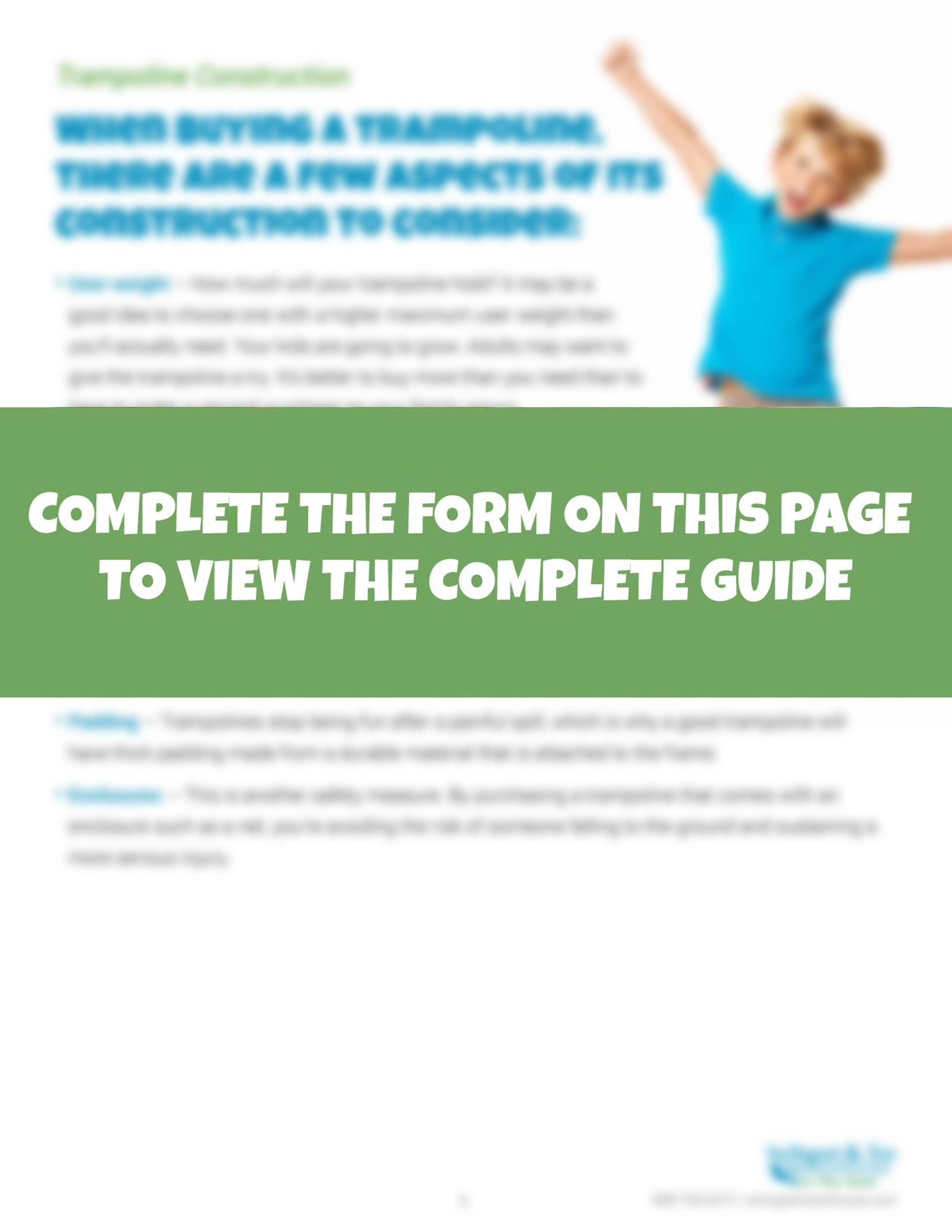 The Parents Guide to Buying TrampolinesThe Parents Guide To Trampolines